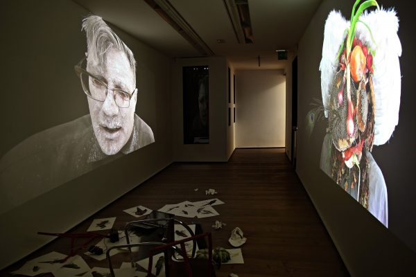 24 What! Art though like the Adder waxen and deaf_ Rafael Perez Hernando Gallery Madrid Video Instalaltion in two channels