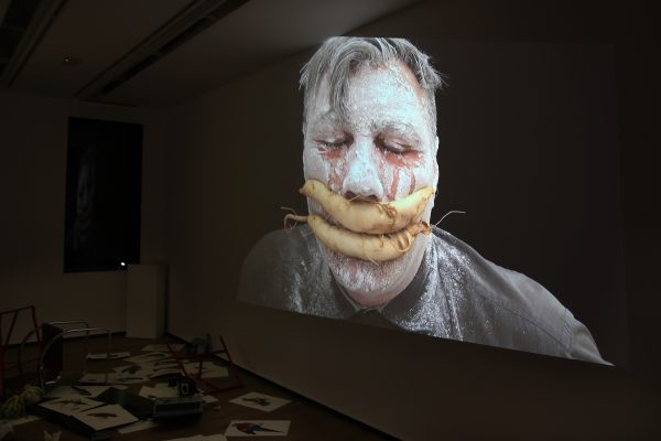 34 What! Art though like the Adder waxen and deaf_ Rafael Perez Hernando Gallery Madrid Video Instalaltion in two channels