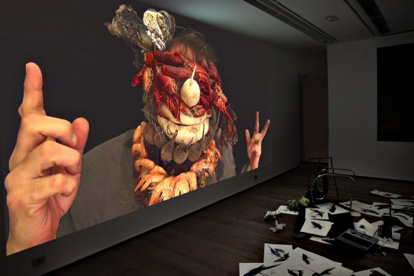 36 What! Art though like the Adder waxen and deaf_ Rafael Perez Hernando Gallery Madrid Video Instalaltion in two channels